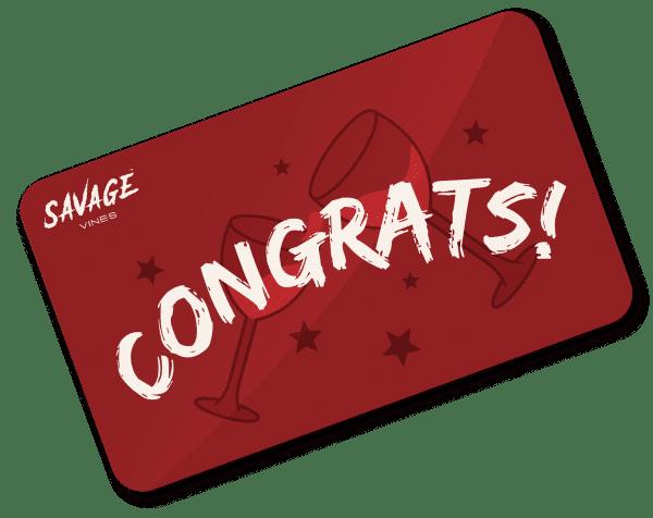 Wine Gift Card - Congratulations