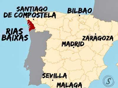 map of  Galicia Spain | Guide to Rias Baixas wine
