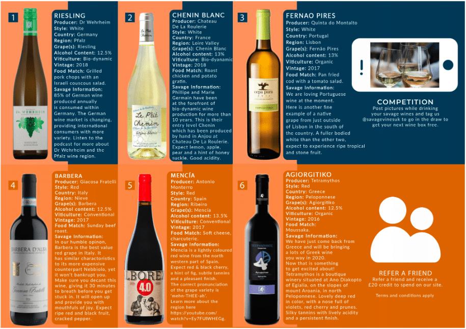 Wine Subscription UK | Savage Vines Tasting Notes