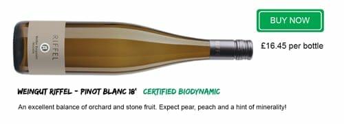 Wine Recommendation - Organic Pinot Blanc