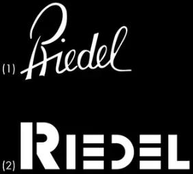 (1) Hand-blown Riedel Trademark | (2) Machine-blown Riedel Trademark