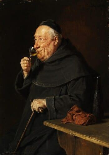 A German Monk enjoying German Wine