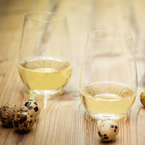Stemless Champagne Glasses